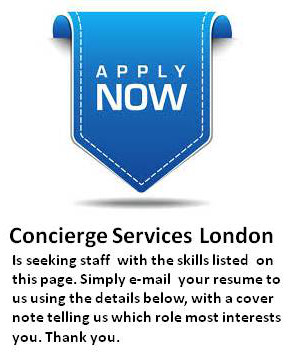 Apply to Concierge Services London online