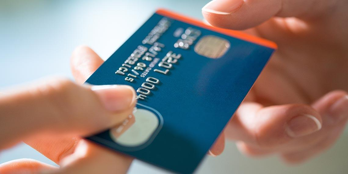 Pay for services, using all major credit and debit cards