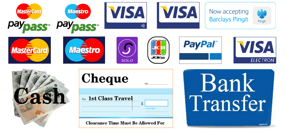 Pay for services. We accept all major debit and credit cards